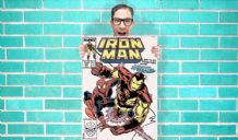 Iron man and spiderman Marvel Avenger Comic Art Work - Wall Art Print Poster Pick A Size - Comic Art Geekery